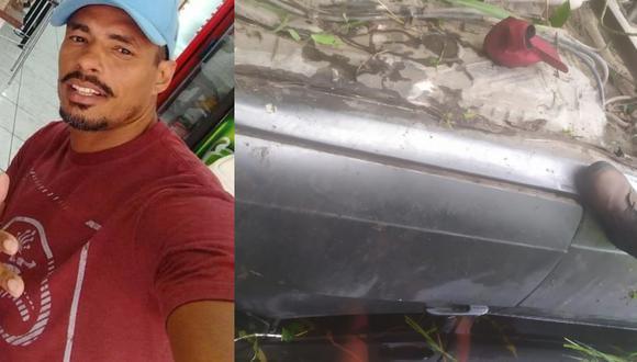 Robsom do Santos ayudó a salvar a la víctima de un accidente y fue despedido tras llegar tarde. (Fotos. Facebook)