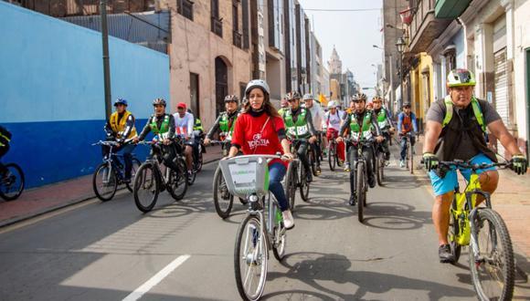 Los ciclistas irán acompañados de los miembros del serenazgo de Lima y la Policía Nacional para garantizar la seguridad. (Municipalidad de Lima)
