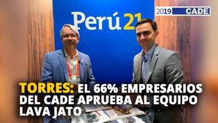 Alfredo Torres: El 66% de empresarios del CADE aprueba al equipo Lava Jato [VIDEO]