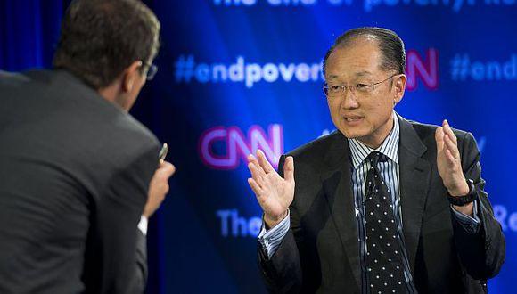 Jim Yong Kim dio una entrevista en vivo para la cadena CNN. (AFP)