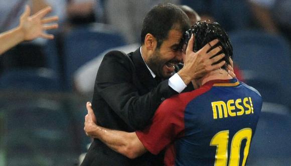 Lionel Messi fue campeón de la Champions League con el FC Barcelona en dos ocasiones, al mando de Guardiola. (Foto: AFP)