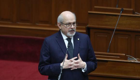 El primer ministro, Pedro Cateriano se presenta en el pleno del Congreso para solicitar el voto de investidura (PCM).