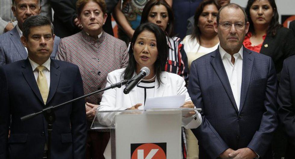 Fuerza Popular, el partido que lidera Keiko Fujimori, se pronunció sobre el acuerdo de colaboración firmado con Odebrecht. (Foto: GEC)