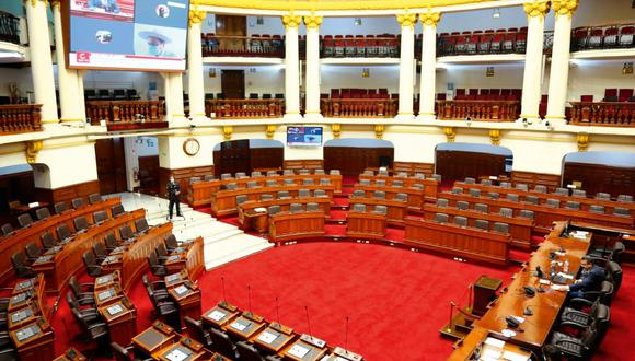 Hemiciclo del Congreso de la República. (Foto: GEC)