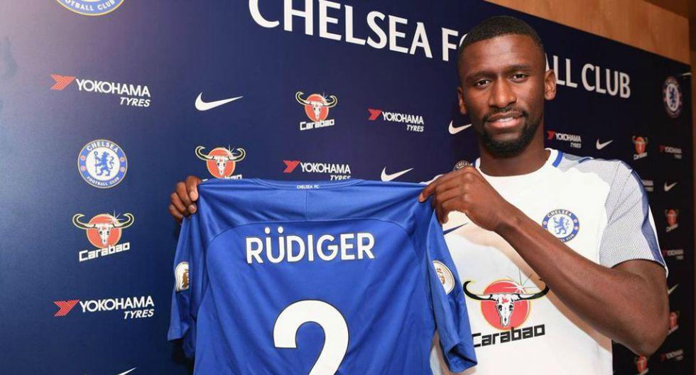 Antonio Rudiger jugará por los 'Blues'. (Chelsea/Twitter)