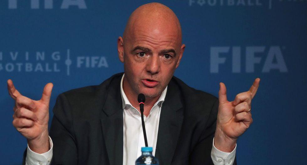 Gianni Infantino quiere 48 selecciones en Qatar 2022 (Foto: AFP).