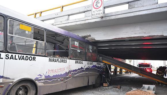 Puente de Av. Brasil se habilitará en 10 días tras sufrir choque de un bus. (USI)