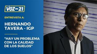 """Hernando Tavera: """"Hay un problema con la calidad de los suelos"""""""