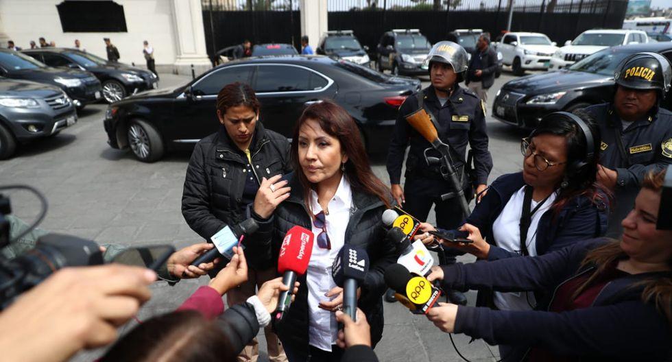 La ministra María Jara reiteró la preocupación del Gabinete por la elección de miembros del TC. (Foto: GEC)
