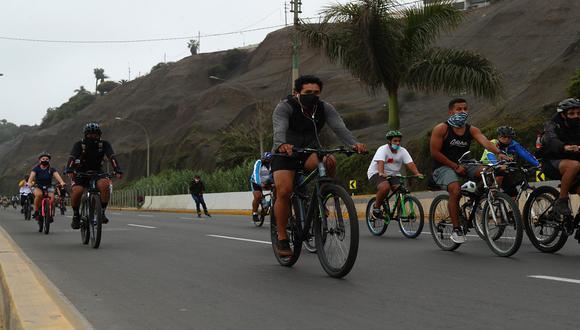 Los ciclistas podían disfrutar de esa vía libre los días domingos. (Foto: Alessandro Curraino/GEC)