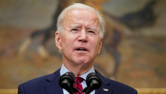 U.S. President Joe Biden speaks after the House of Representatives passed his $1.9 trillion coronavirus relief package in the Roosevelt Room of the White House in Washington, U.S., February 27, 2021.  REUTERS/Joshua Roberts