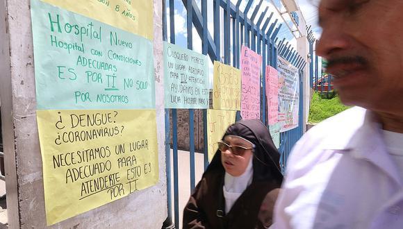 Cusco: Trabajadores de hospital de contigencia Antonio Lorena se niegan recibir pacientes con coronavirus (Foto: Juan Sequeiros)