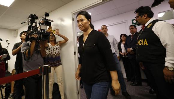 Keiko Fujimori cumple una segunda prisión preventiva de 15 meses por el Caso Odebrecht. (Foto: GEC)