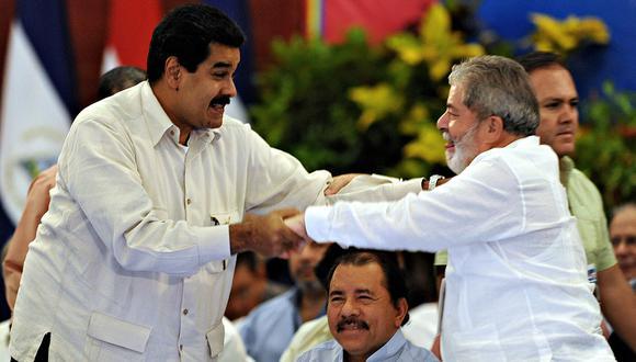 Nicolás Maduro celebra la liberación de Lula da Silva. (Foto: AFP/Archivo)