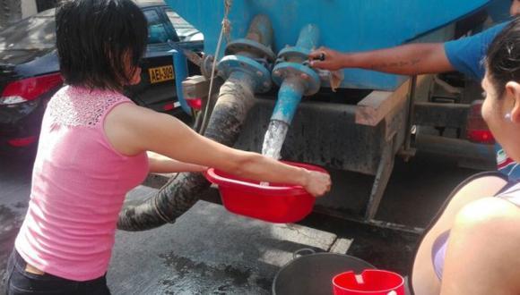 En el 2015, los 20 distritos que serán afectados con el corte de agua a inicios de julio, reportaron un consumo de 169.369 m3 de agua. Foto: GEC)