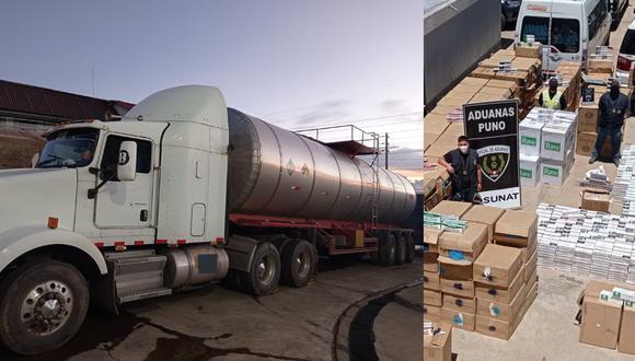 """Según la Sunat, esta inusual modalidad para ingresar mercadería de contrabando al país denominada """"ballena"""" no se registraba desde noviembre de 2019 (Foto: Sunat)"""