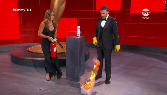 Jennifer Aniston fue parte de la ceremonia de los Emmy 2020. (Foto: Captura TNT)