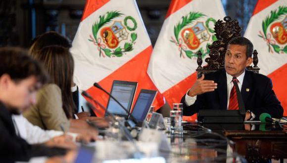 Ollanta Humala recordó que el 20 de febrero el Perú llamó a su embajador en consulta. (AFP)