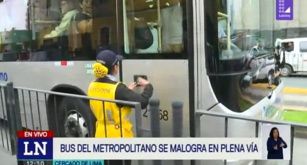 Los pasajeros del transporte, indicaron que el conductor le señaló que todo habría sido por una avería en el vehículo. (Foto: Latina)