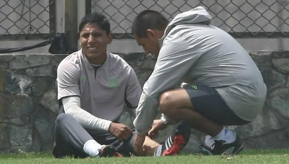 Ruidíaz se lesionó ayer en los entrenamientos. (Erick Nazario/USI)