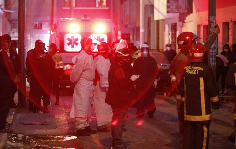 El oficial de información del Cuerpo de Bomberos, Lewis Mejía, informó que los heridos fueron trasladados al hospital Almenara. (Foto: Cesar Bueno/GEC)