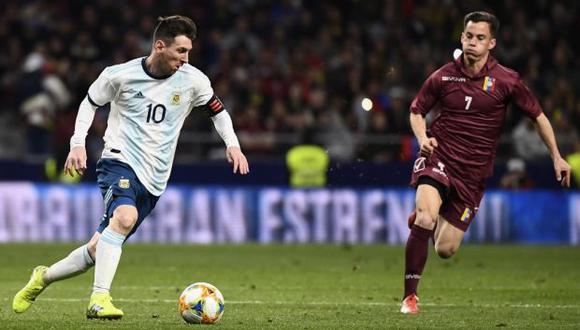 Venezuela nunca venció a Argentina por Copa América antes de su enfrentamiento en Rio, pero llega motivada por sus antecedentes inmediatos ante la Albiceleste. (Foto: AFP)