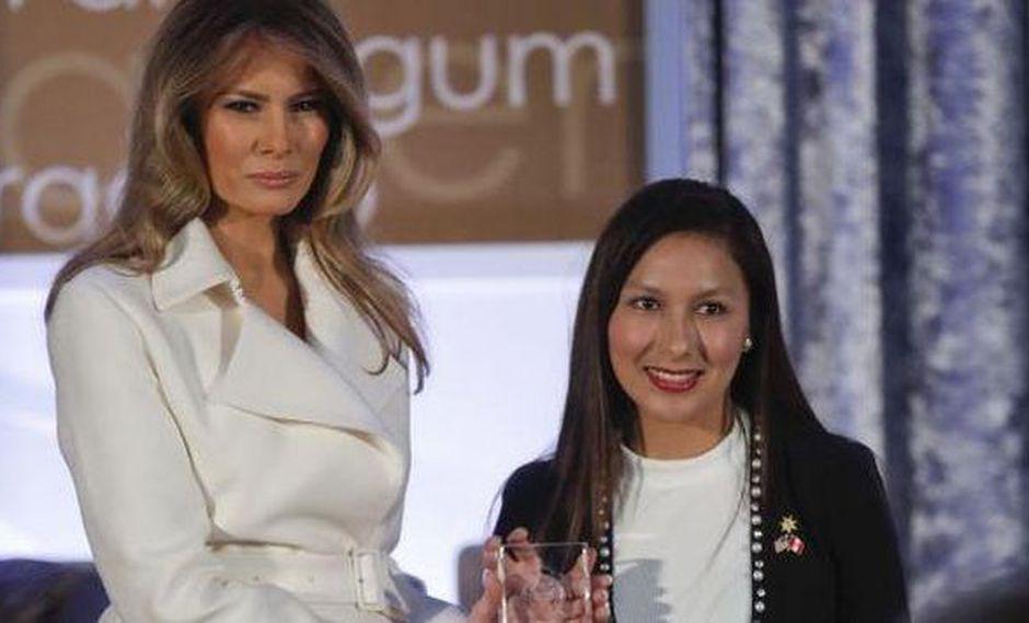 Arlette Contreras fue premiada por su activismo en la lucha contra la violencia de género (AFP)