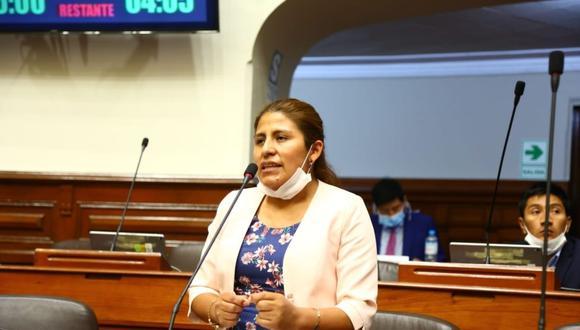 Congresista de UPP, Yessica Apaza. (Foto: Andina)