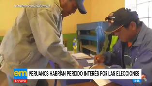 Peruanos habrían perdido el interés por las elecciones presidenciales, según expertos