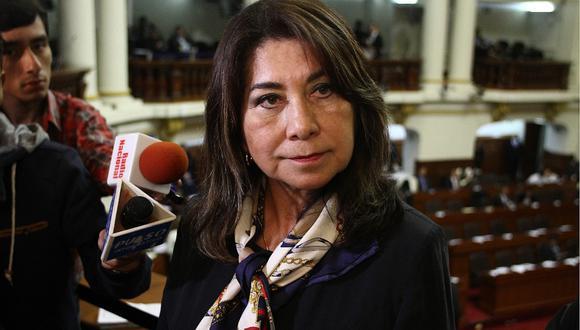 Martha Chávez forma parte de la lista al Congreso por Fuerza Popular con el número 1. (Foto: GEC)
