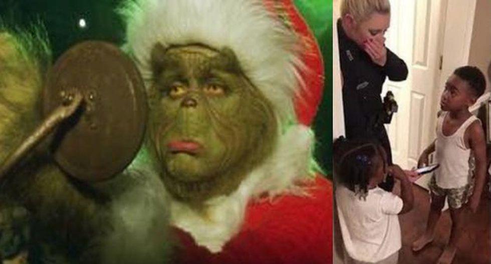 El menor pudo arrestar al Grinch y 'salvar' la Navidad.
