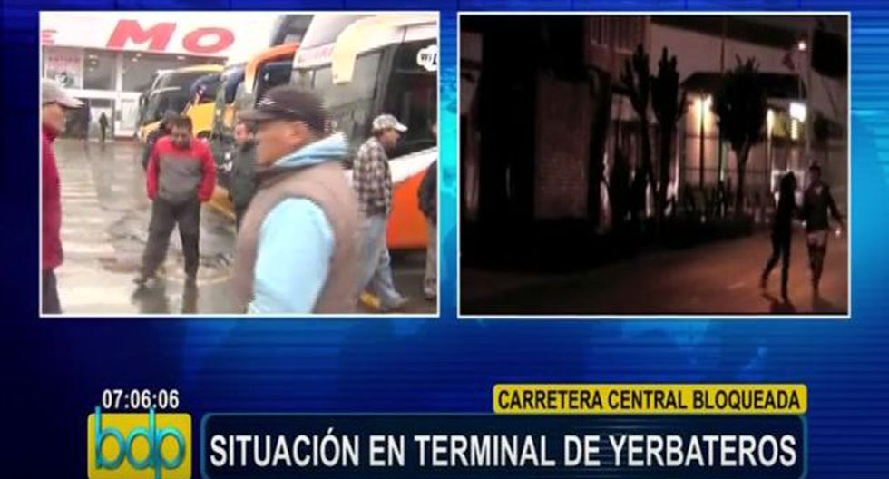 Terminal de Yerbateros: Prohiben salida de buses a Carretera Central (Panamericana)