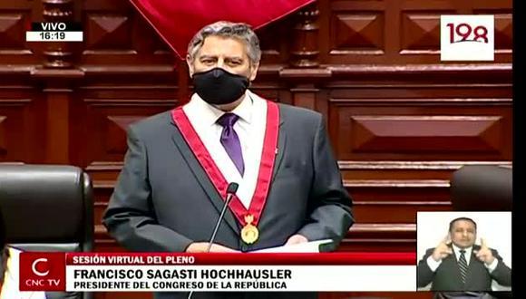 Francisco Sagasti se dirigió al pleno del Congreso.