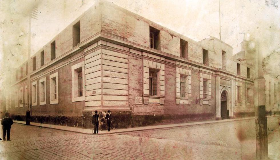 Biblioteca Nacional del Perú en 1822, ubicada en lo que hoy es actual avenida Abancay (Difusión).