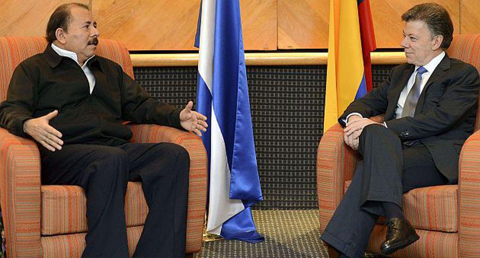 Santos y Ortega se reunieron en México. (Presidencia de Colombia)