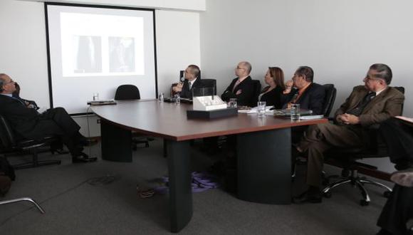 Peritos durante su presentación. (Perú21)