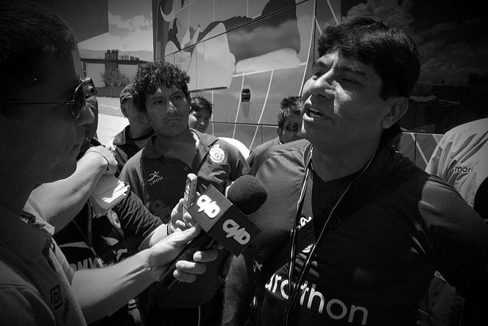 'Petróleo' García declaró a los periodistas que llegaron hasta Huancayo para el duelo. No quiere ir a tiempo suplementario ni penales. (Luis Gonzales)