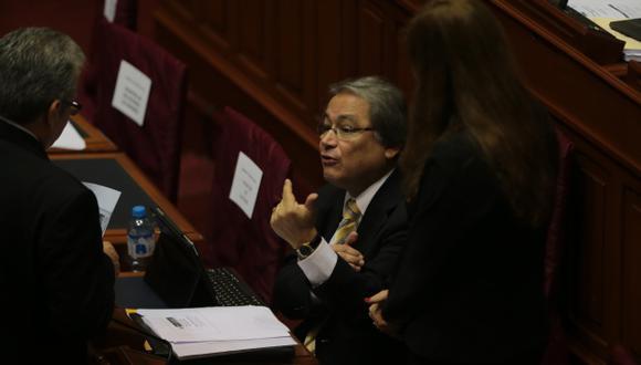 MÁS RECURSOS. El ministro Albán destacó que la partida de su sector se incrementó en 32% respecto a la de 2012. (Martín Pauca)