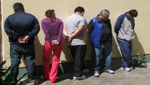DETENIDOS. Policía está tras los pasos de bandas delictivas. (Alan Benites)
