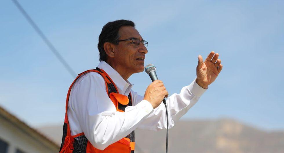 El presidente Martín Vizcarra subió ocho puntos porcentuales en su aprobación. (Foto: Difusión)