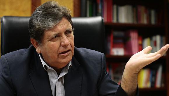 Alan García negó que se busque evadir algún procedimiento legal. (David Vexelman)