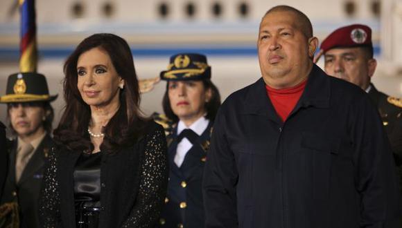 ADVERTENCIA. Tras el cáncer hallado en Fernández, Chávez les dijo a Morales y a Correa que se cuiden. (Reuters)