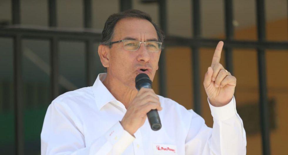 El presidente de la República, Martín Vizcarra, supervisó las obras para la Línea 2 del metro de Lima. (Foto: GEC)