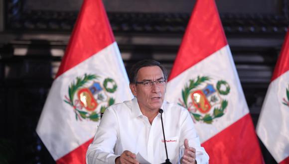 Martín Vizcarra indicó que añadirán, al menos, 500 mil familias, para el bono de 380 soles. (Foto: Presidencia de la República)