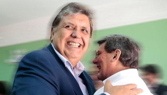 Rafael Rey y Alan García en el 2015. (Perú21)