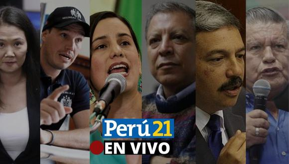 César Acuña (APP), Marco Arana (Frente Amplio), Alberto Beingolea (PPC), George Forsyth (Victoria Nacional), Keiko Fujimori (Fuerza Popular) y Verónika Mendoza (JP) expondrán sus propuestas.