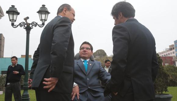 EN BOCA CERRADA. Urtecho no se ha pronunciado sobre pedido para que se le levante la inmunidad. (Martín Pauca)