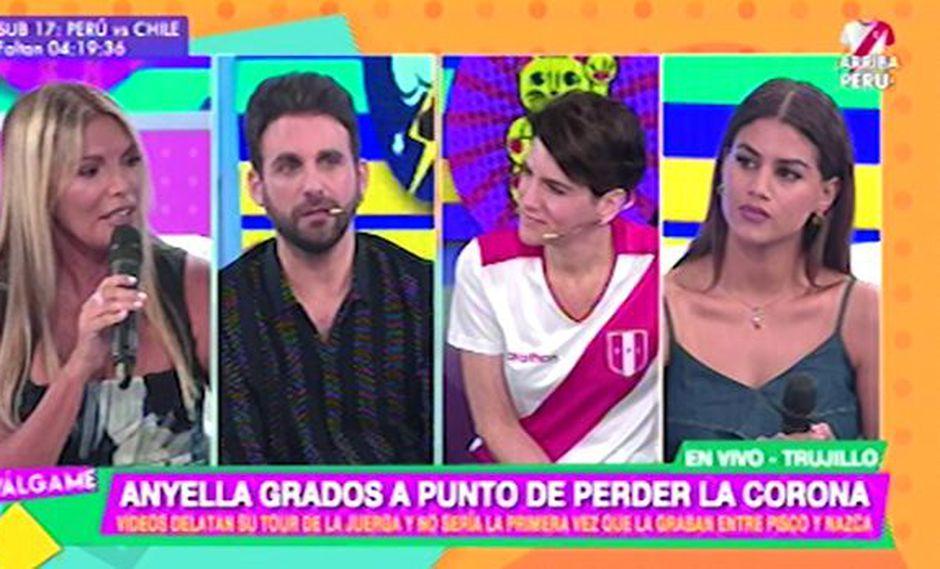 """Jessica Newton """"cuadró"""" a Peluchín para defender a Camila Canicoba. (Foto: Captura de pantalla)"""