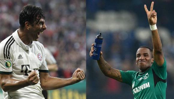 CON LA MECHA PRENDIDA. Pizarro y Farfán brillaron en Alemania al convertir para sus equipos. (Reuters/AFP)