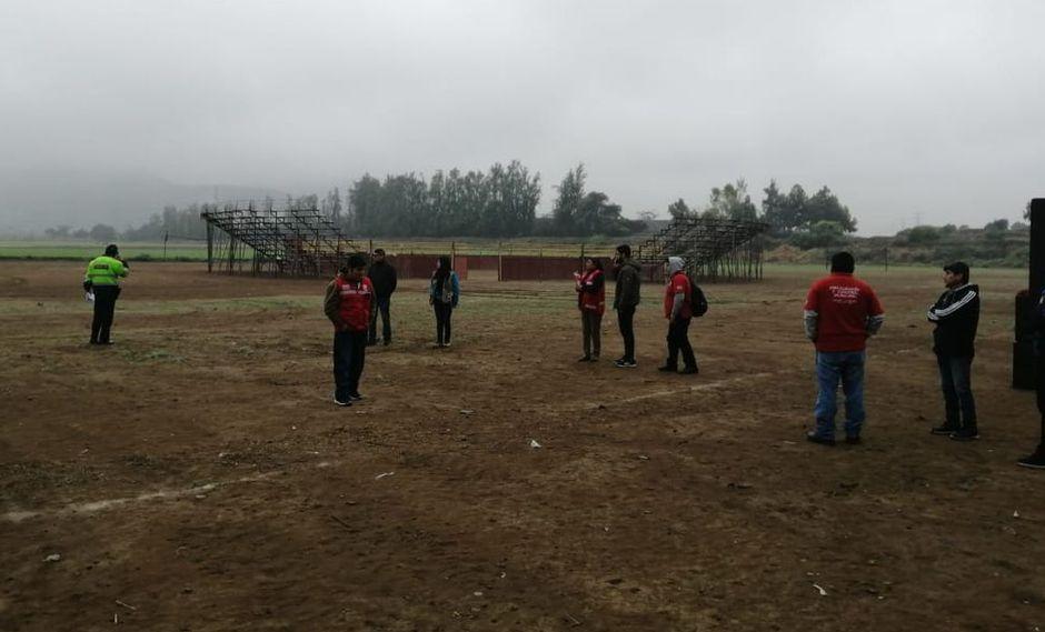 Las autoridades intervinieron para impedir la realización de un evento en una zona arqueológica. (Difusión)